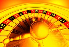 Ruleta del oro Foto de archivo libre de regalías