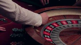 Ruleta en el casino El número afortunado sale metrajes
