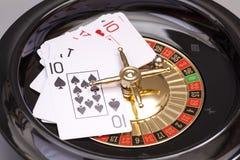 Ruleta I karta do gry Zdjęcie Royalty Free