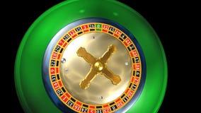 Ruleta, juego del casino, animación stock de ilustración