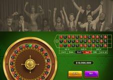 ruletowa gra i ludzie świętować royalty ilustracja