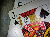 Ruling card. A jack of spades Stock Images