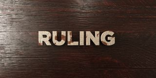 Ruling - grungy wooden headline on Maple  - 3D rendered royalty free stock image Stock Images