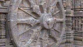 Rulla in den Konark soltemplet, Indien arkivfilmer
