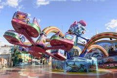 Rulla den octopussy karusellen på Oktoberfest, Stuttgart Arkivfoto