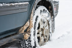 Rulla i snowen Arkivfoton