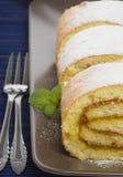 Rulla med citronfyllning, närbild Royaltyfri Bild
