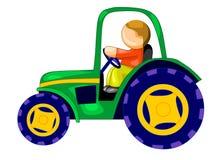 rullad traktor Vektor Illustrationer