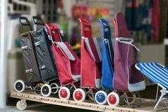 Rullade shoppingpåsar Fotografering för Bildbyråer