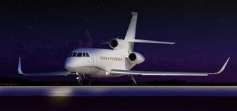Rullaggio privato del jet fotografia stock