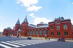 Rullande åska ståtar längs självständighetave i landens huvudstad USA Royaltyfri Fotografi