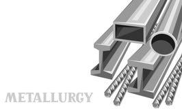 Rullande baner för metallprodukter vektor illustrationer