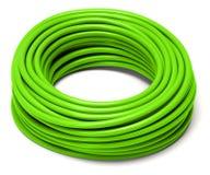 Rullande grön kabel royaltyfri foto
