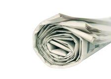 rullande isolerad tidning Royaltyfria Foton