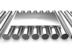 Rullande metall, ark på rundor stock illustrationer