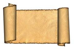 Rullande parchmentillustration för tappning grunge Arkivfoton