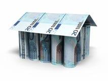 20 rullande sedlar för euro Arkivfoton