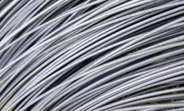 Rullande stålkabel för metall textur royaltyfria bilder