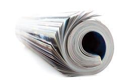 Rullande tidskrift Arkivfoton