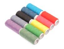 Rullar av färgtrådar Royaltyfri Fotografi