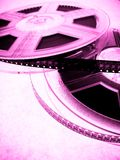 rullar för biobegreppsfilm Arkivfoto