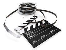 rullar för brädeclapperfilm Arkivbild