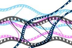rullar för film för biobegreppsfilm Arkivfoton