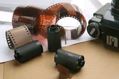 Rullar för fotografisk film, kassetter Arkivbild