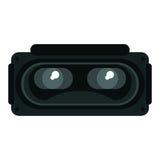 Rullar med ögonen entertaiment för simulering 3d vektor illustrationer