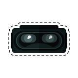 Rullar med ögonen för entertaimentsnittet för simulering 3d linjen royaltyfri illustrationer