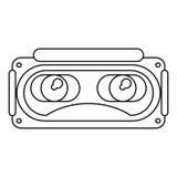 Rullar med ögonen linjen för entertaimenten för simulering 3d den tunna royaltyfri illustrationer