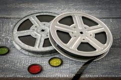 Rullar med gamla filmer Arkivbild