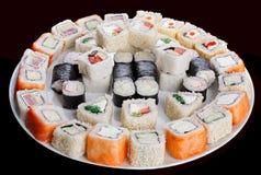 rullar ställde in sushi Royaltyfri Fotografi