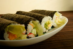 rullar sushi Royaltyfria Foton