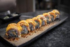 rullar sushi Fotografering för Bildbyråer