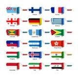 Rullborste med flaggan Arkivbild