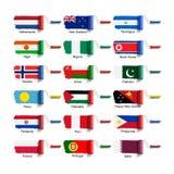 Rullborste med flaggan Royaltyfri Bild