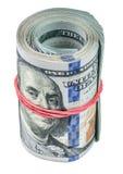 Rulle av dollar Arkivfoto