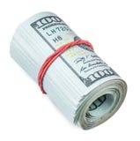 Rulle av dollar Arkivbild