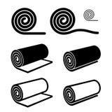 Rulle av något svartsymbol vektor illustrationer