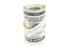 Rulle av pengar för hälsa Arkivbilder