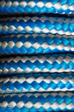 Rulle av repet som virvlar runt på en pol Royaltyfria Foton