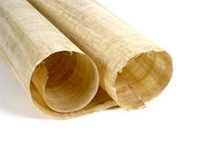 rulle för 2 papyrus Royaltyfri Foto