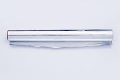 rulle för aluminium folie Arkivbild