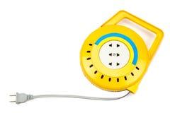 Rulle för elektrisk kabel för förlängning Fotografering för Bildbyråer