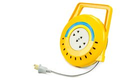 Rulle för elektrisk kabel för förlängning Royaltyfri Fotografi