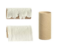 Rulle för toalettpapper royaltyfri bild