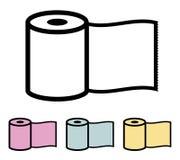 Rulle för toalettpapper Royaltyfria Bilder
