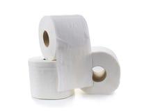 Rulle för toalettpapper-silkespapper papper Fotografering för Bildbyråer