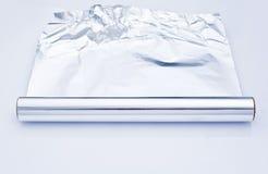 rulle för aluminium folie Arkivfoton